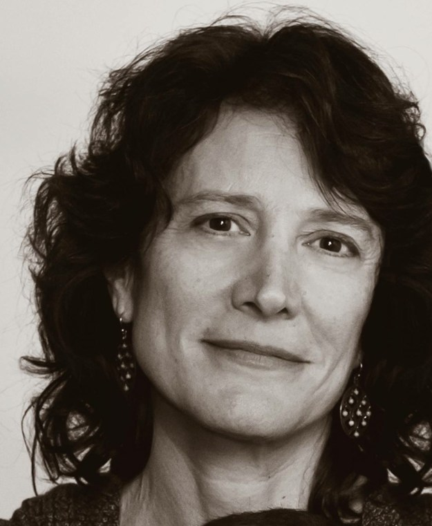 Photo for background page is a black and white headshot of mediator, author, public speaker Janet Rowles