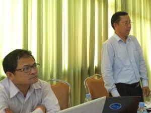Left: Kakada Thorng, CCM ED, Right: CCM President, Savath Meas