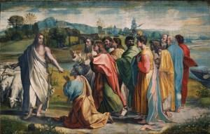 Raphael_consenga_della_chiavi_(1515)