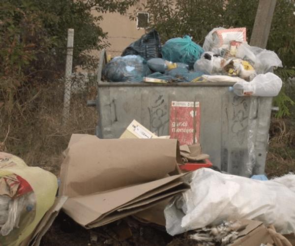 Container de gunoi în orașul Cimișlia