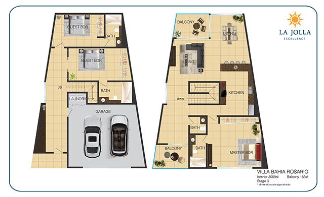 La Jolla Excellence Floor Plans