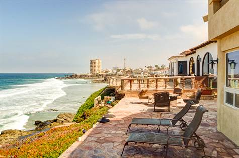 Rosarito Beach Oceanfront Home for sale Castillos del Mar