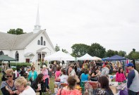 """Levittown, NY - Good Shephard Lutheran Church in Levittown, NY hosted 47 vendors at their 28th annual Country Craft Fair on Saturday, September 13, 2014. """"It brings the community together,"""" John Kallas, the president of the church council, said."""