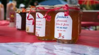 "Elizabeth's Homemade Jellies and Jams were on sale at the apple tent during the Apple Festival at Stony Brook Community Church on September 13, 2014. The most popular flavor of the day was ""Apple Cider Jelly."" By Ashley Maisano."