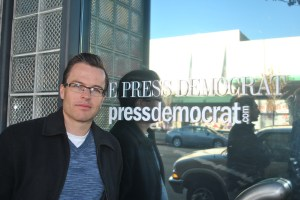 Derek Moore, unit chair of Santa Rosa Press Democrat.  Photo by Kat Anderson, Freelance unit, 2012
