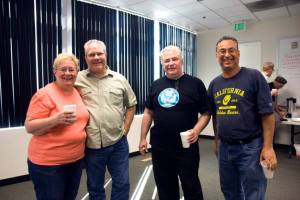 TNG President Bernie Lunzer (middle in black shirt) and CWA members.