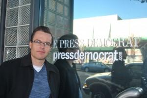 Derek Moore, unit chair of Santa Rosa Press Democrat. Photo by Kat Anderson 2012.