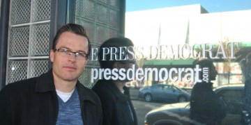 Derek Moore, unit chair of Santa Rosa Press Democrat. Photo by Kat Anderson 2012.