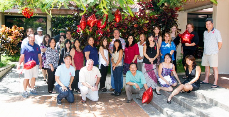 Maui News members and their colleagues from the Honolulu Typographical Union. Photo by Chris Sugidono 2015