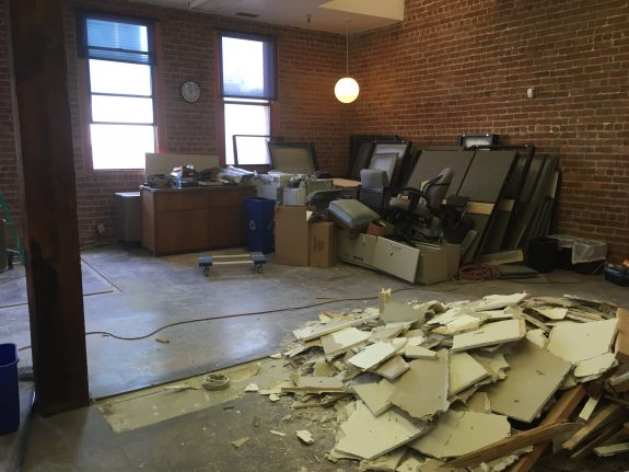 Guild office demolition May 4 2016