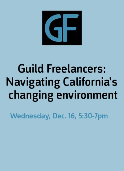 Guild offers workshop for freelancers navigating Prop 22, AB 5