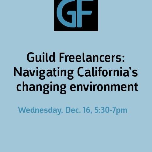 Guild offers workshop for freelancers navigating Prop 22, AB 5