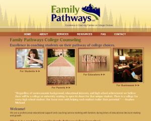Family-Pathways-College-Website Design and Development 2012