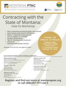 Flyers for Montana Government Organization Events