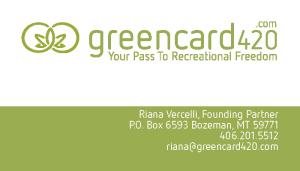 Greencard420 Bozeman-Business-card-design