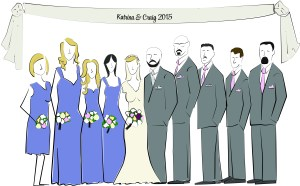 Wedding party illustration