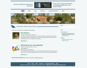 Local Bozeman Neighborhood Website Design 2015