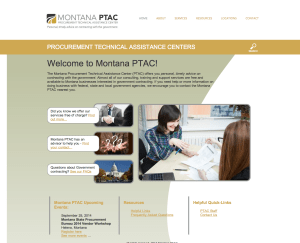 Montana State Government Contracting Assistance Website Design and Custom Programming