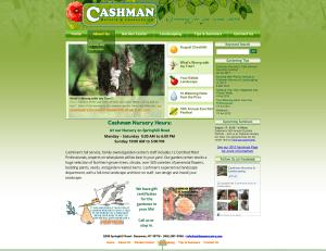 cashman nursery bozeman website design and development