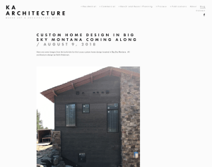 Website Blog and Facebook social media digital ad and content management for bozeman architect