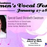 womens vocal festival half page ad graphic design