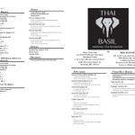 folded take out menu design for bozeman restaurant