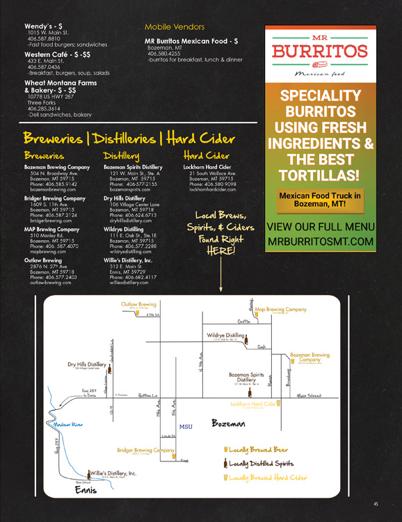 Bozeman Brewery Listing and Map Ad Design