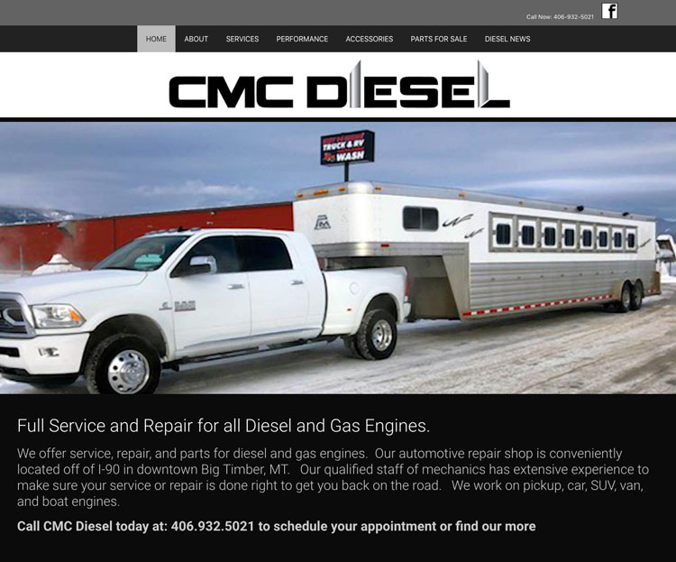 custom-wordpress-website-design-for-big-timber-diesel-mechanic-business