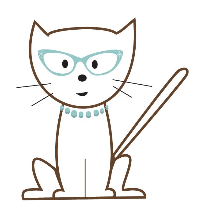 stylized cat illustration