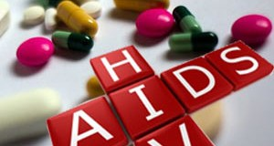 HIV Aids against capsules and drugs
