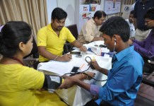 Blood pressure, health check up camp in Kolkata