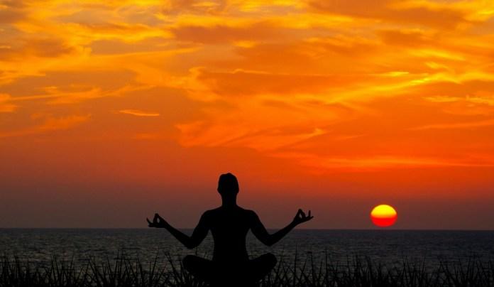 person practising yoga