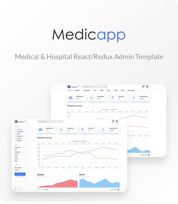 , MedicApp – Medical & Hospital React admin template, Laravel & ReactJs