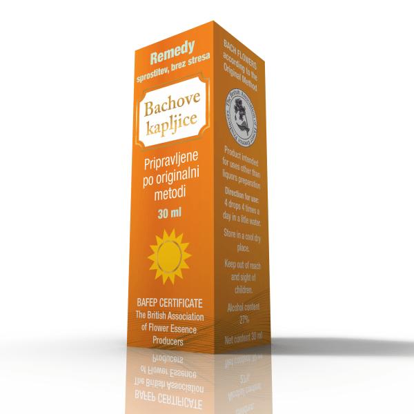Dr. Bach kapljice Remedy- sprostitev brez stresa 30 ml