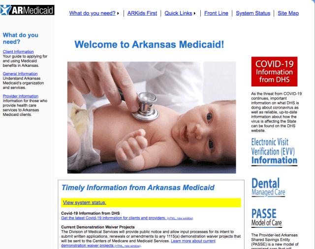 """Apply for Medicaid Online in Arkansas"""