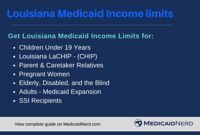 """""""Louisiana Medicaid Income Limits"""""""