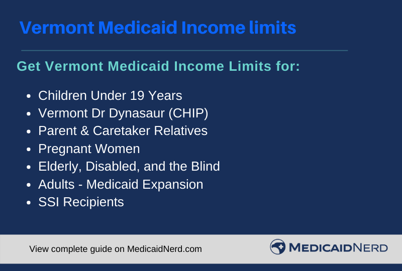 """Vermont Medicaid Income Limits"""