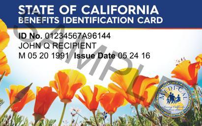 """California Medi-Cal Card"""