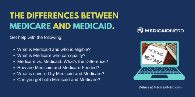 """""""Difference between Medicare and Medicaid"""""""