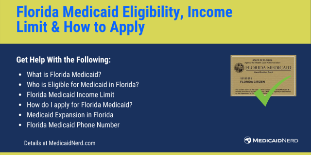 """""""Florida Medicaid Eligibility, income limit and how to apply"""""""