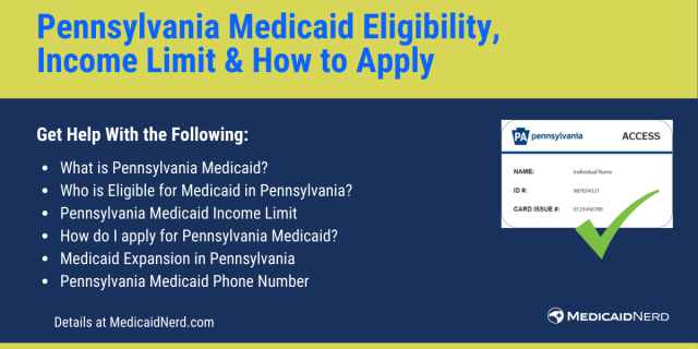 """""""Pennsylvania Medicaid Eligibility, income limit and how to apply"""""""