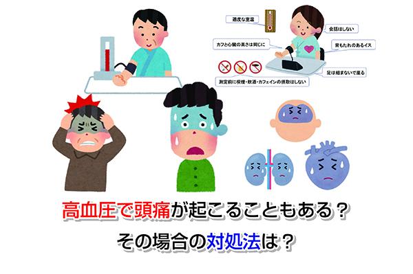 Headache with high blood pressure Eye-catching image