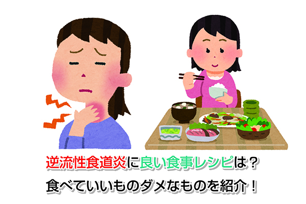 Good meal in reflux esophagitis Eye-catching image