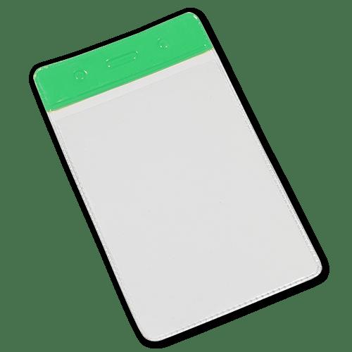 Green Portrait Vinyl Card-Holder