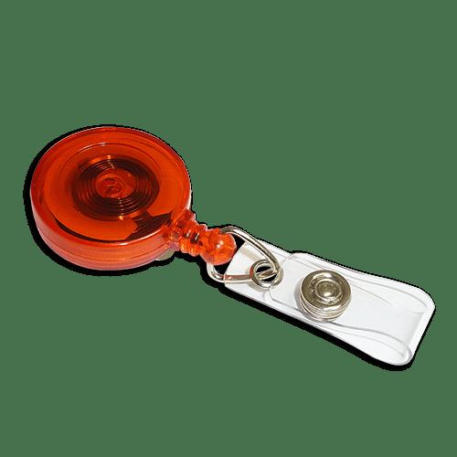 Red Ski Badge Reel