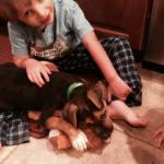 Farley's foster family!