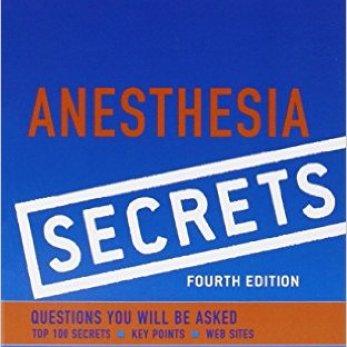 Anesthesia Secrets 4th Edition PDF