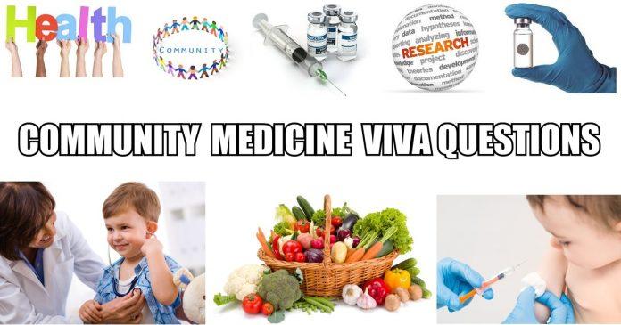 Viva Questions Community Medicine Prof.