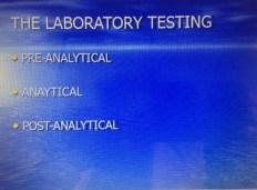 The Laboratory Testing Process