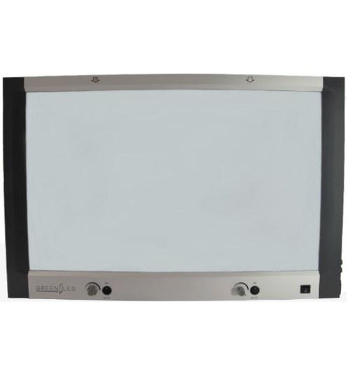 NEGATOSCOPIO PLANO 2 PLACAS LED 6300 LUX GREEN LED – GLTB1H2